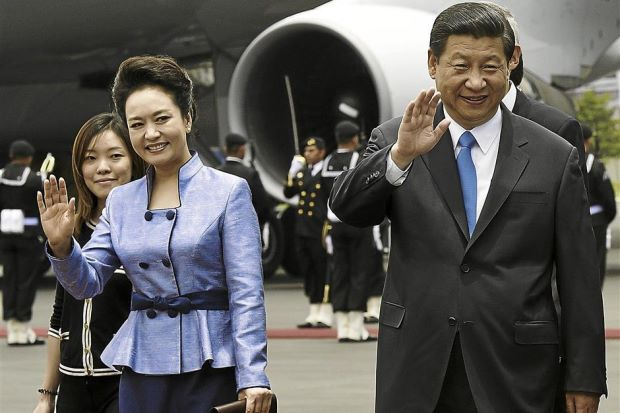 Xi Jinping and wife