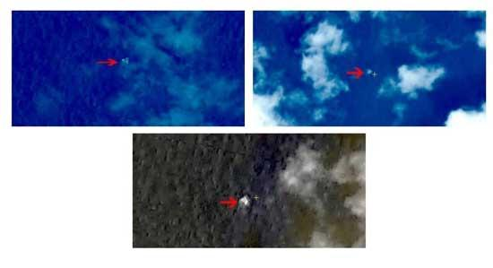 MH370_Satelite floating Images