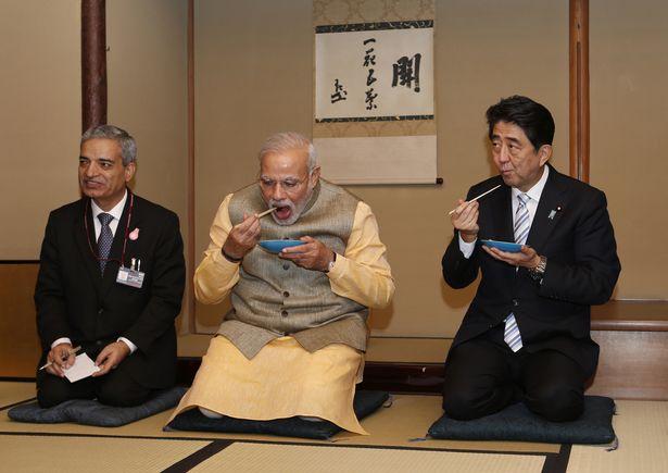 India Modi Tea_Abe