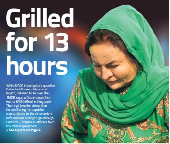 Najib's wife Rosmah says she is okay after 13 hours long grilled by anti corruption agency over 1MDB