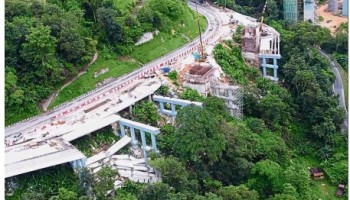Bukit Kukus paired road hits snag before mishap, stop work order to contractor on collapsed beams
